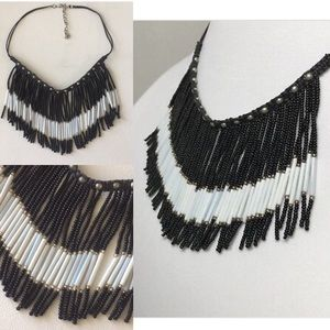 NWOT! Boho beaded fringe necklace!